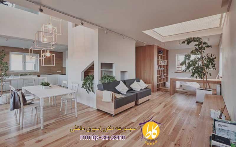 طراحی دکوراسیون داخلی با چوب صنوبر (Poplar Wood)