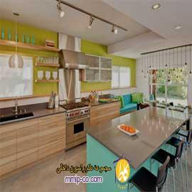 ترکیب رنگ در دکوراسیون آشپزخانه