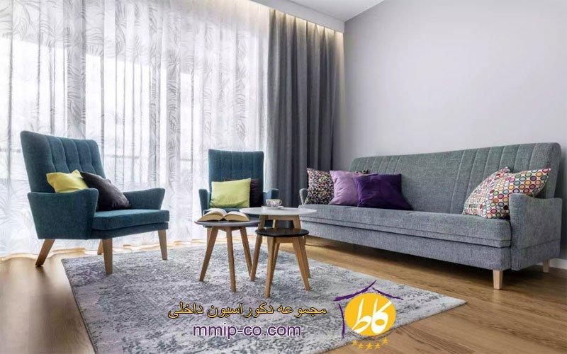 طراحی داخلی اتاق نشیمن با بودجه کم