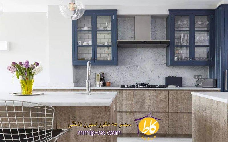 5 ایده زیبا برای استفاده از کابینت آشپزخانه آبی