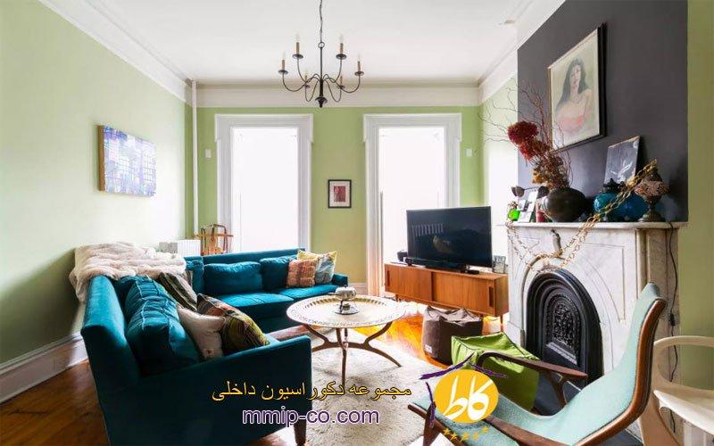6 طرح رنگی زیبا برای اتاق نشیمن