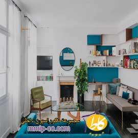 ۶ طرح رنگی زیبا برای اتاق نشیمن