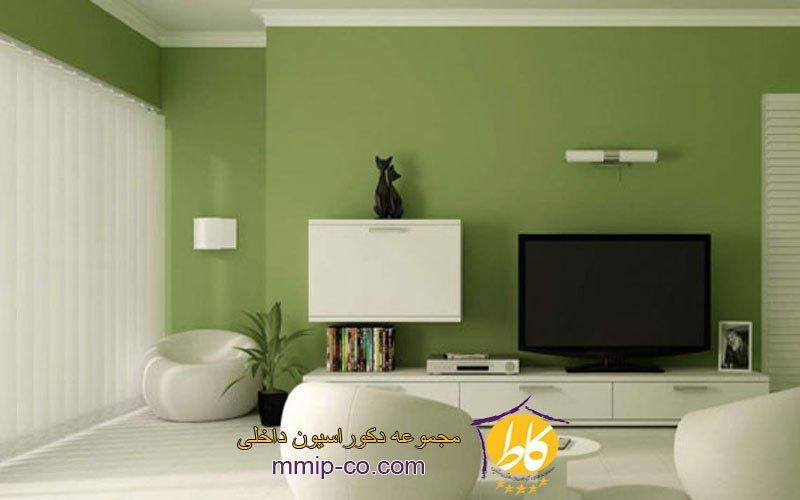 ایده هایی از طراحی اتاق نشیمن سبز رنگ