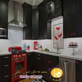 ۴ آشپزخانه با کابینت های مشکی