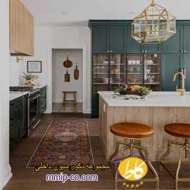 ۵ ایده کابینت سبز رنگ در آشپزخانه